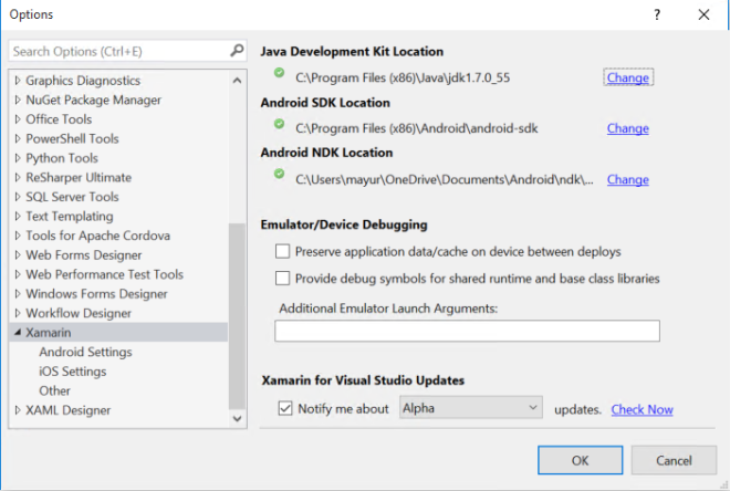 VS 2015 - SDK Location - 2