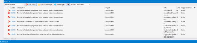 Xamarin Forms And The Case of Failed NuGet Packages